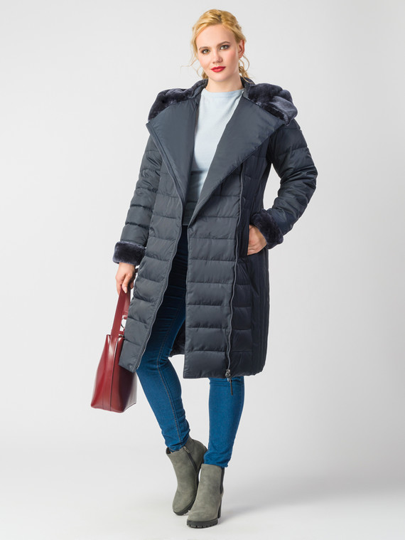 Пуховик текстиль, цвет темно-синий, арт. 26006558  - цена 7990 руб.  - магазин TOTOGROUP