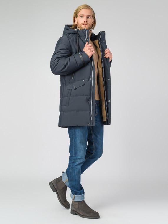 Пуховик текстиль, цвет темно-синий, арт. 26006571  - цена 6630 руб.  - магазин TOTOGROUP