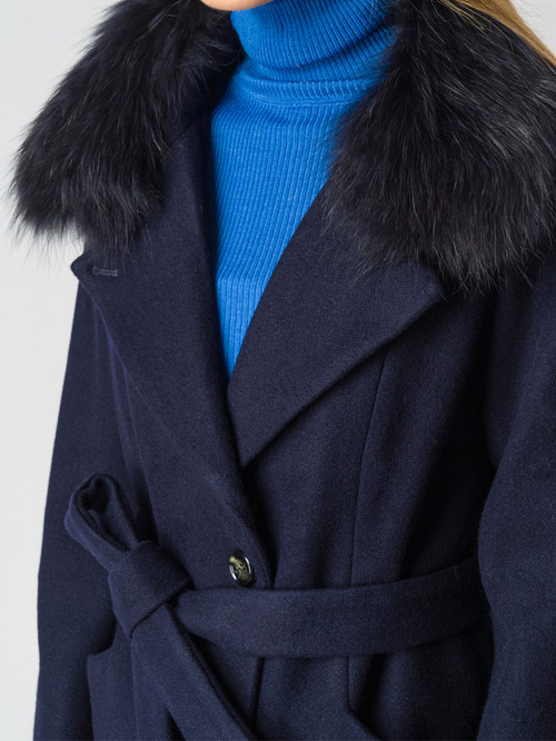Текстильное пальто артикул 26006601/42 - фото 4