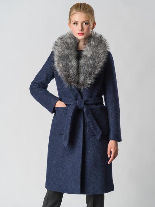 Текстильное пальто артикул 26006603/42 - фото 2