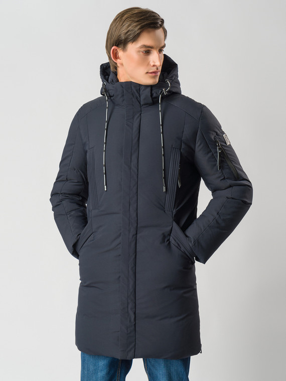 Пуховик текстиль, цвет темно-синий, арт. 26006737  - цена 7990 руб.  - магазин TOTOGROUP