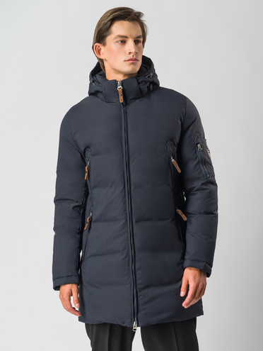 Пуховик текстиль, цвет темно-синий, арт. 26006738  - цена 7990 руб.  - магазин TOTOGROUP