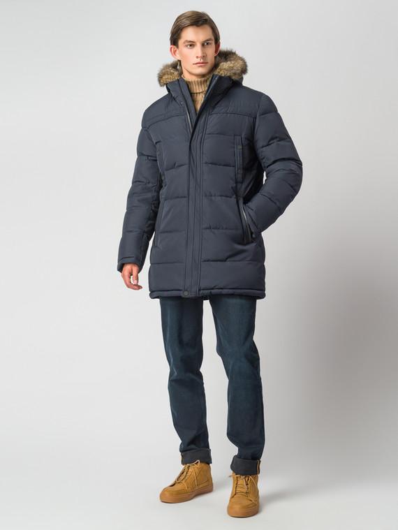 Пуховик текстиль, цвет темно-синий, арт. 26006740  - цена 12690 руб.  - магазин TOTOGROUP