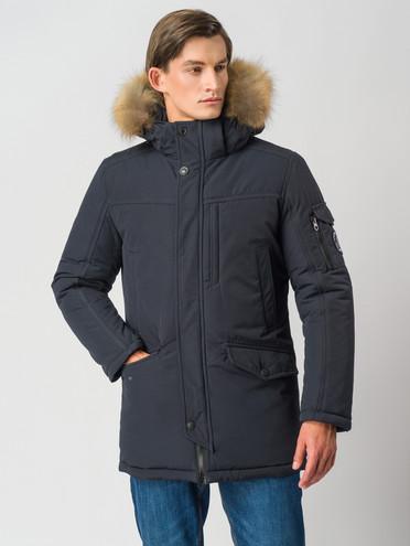 Пуховик текстиль, цвет темно-синий, арт. 26006744  - цена 9990 руб.  - магазин TOTOGROUP