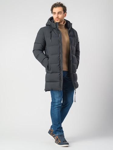 Пуховик текстиль, цвет темно-синий, арт. 26006748  - цена 7990 руб.  - магазин TOTOGROUP