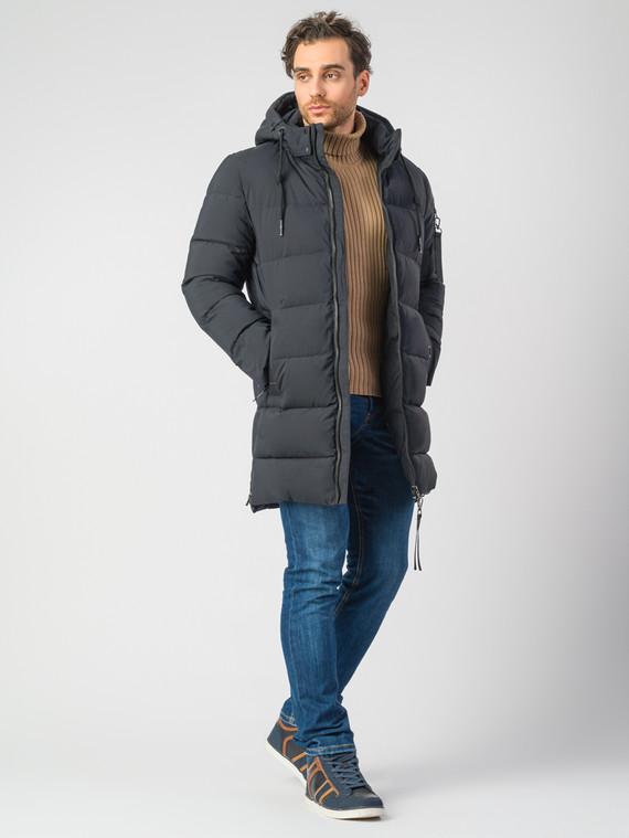 Пуховик текстиль, цвет темно-синий, арт. 26006748  - цена 7490 руб.  - магазин TOTOGROUP