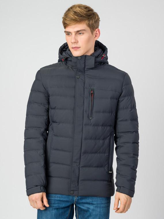 Пуховик текстиль, цвет темно-синий, арт. 26006778  - цена 6630 руб.  - магазин TOTOGROUP