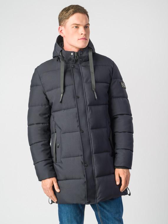 Пуховик текстиль, цвет темно-синий, арт. 26006787  - цена 2990 руб.  - магазин TOTOGROUP