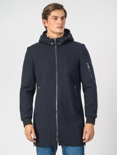 Текстильное пальто 51% п/э,49%шерсть, цвет темно-синий, арт. 26007032  - цена 4740 руб.  - магазин TOTOGROUP
