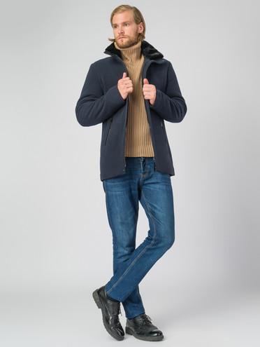Текстильное пальто 51% п/э,49%шерсть, цвет темно-синий, арт. 26007037  - цена 4990 руб.  - магазин TOTOGROUP