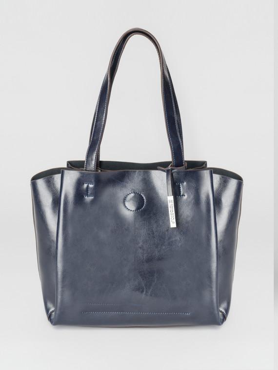 Сумка кожа теленок, цвет темно-синий, арт. 26007370  - цена 5890 руб.  - магазин TOTOGROUP