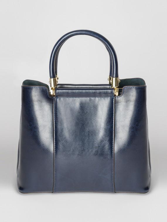 Сумка кожа теленок, цвет темно-синий, арт. 26007377  - цена 5890 руб.  - магазин TOTOGROUP