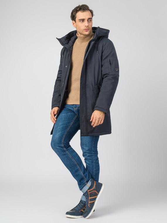 Пуховик текстиль, цвет темно-синий, арт. 26007455  - цена 8490 руб.  - магазин TOTOGROUP