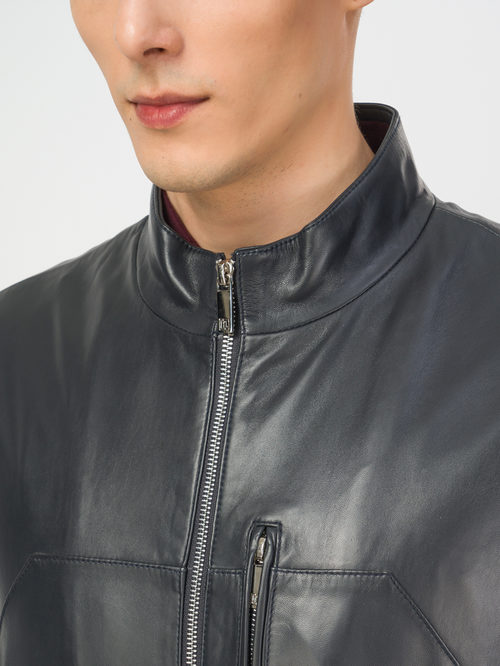 Кожаная куртка артикул 26106159/48 - фото 4
