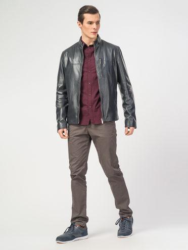 Кожаная куртка кожа , цвет темно-синий, арт. 26106159  - цена 8490 руб.  - магазин TOTOGROUP