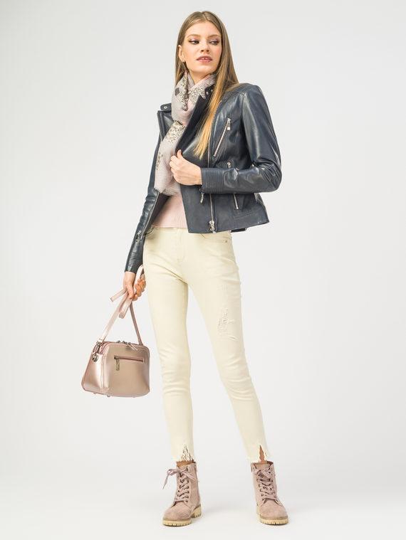 Кожаная куртка кожа , цвет темно-синий, арт. 26106203  - цена 7990 руб.  - магазин TOTOGROUP