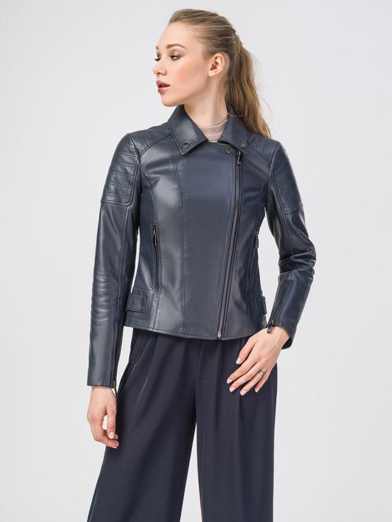 Кожаная куртка кожа , цвет темно-синий, арт. 26106205  - цена 7990 руб.  - магазин TOTOGROUP