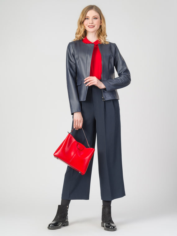 Кожаная куртка кожа , цвет темно-синий, арт. 26106229  - цена 12690 руб.  - магазин TOTOGROUP