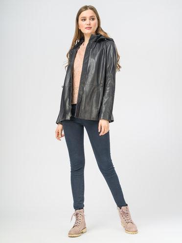 Кожаная куртка кожа , цвет темно-синий, арт. 26106262  - цена 10590 руб.  - магазин TOTOGROUP