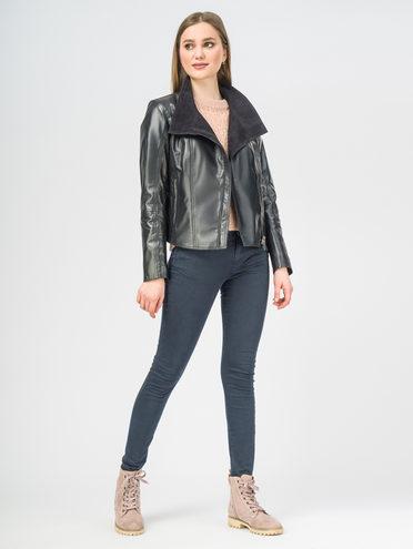 Кожаная куртка кожа , цвет темно-синий, арт. 26106269  - цена 7490 руб.  - магазин TOTOGROUP