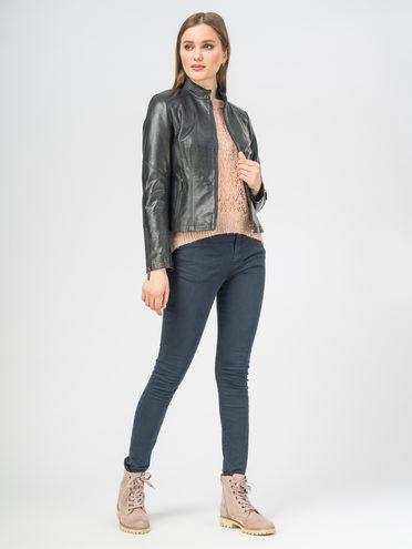 Кожаная куртка кожа , цвет темно-синий, арт. 26106273  - цена 8990 руб.  - магазин TOTOGROUP