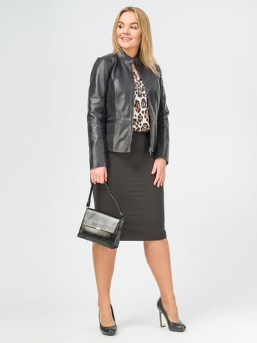 Кожаная куртка кожа , цвет темно-синий, арт. 26106300  - цена 10590 руб.  - магазин TOTOGROUP