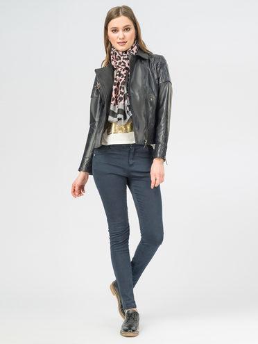 Кожаная куртка кожа , цвет темно-синий, арт. 26106301  - цена 7990 руб.  - магазин TOTOGROUP