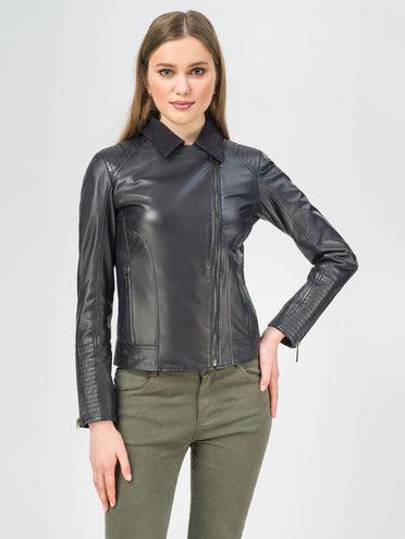 Кожаная куртка кожа , цвет темно-синий, арт. 26106311  - цена 8490 руб.  - магазин TOTOGROUP