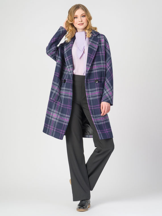 Текстильное пальто 30%шерсть, 70% п.э, цвет темно-синий, арт. 26107901  - цена 5290 руб.  - магазин TOTOGROUP