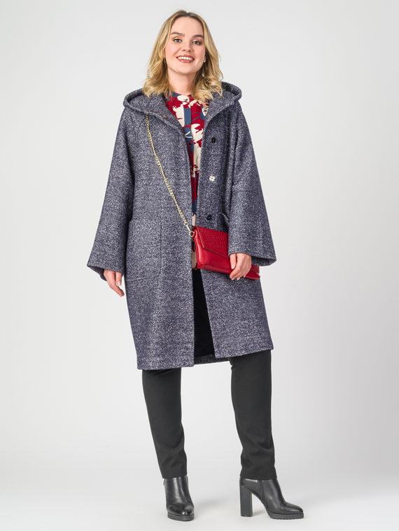 Текстильное пальто 30%шерсть, 70% п.э, цвет темно-синий, арт. 26107904  - цена 5590 руб.  - магазин TOTOGROUP