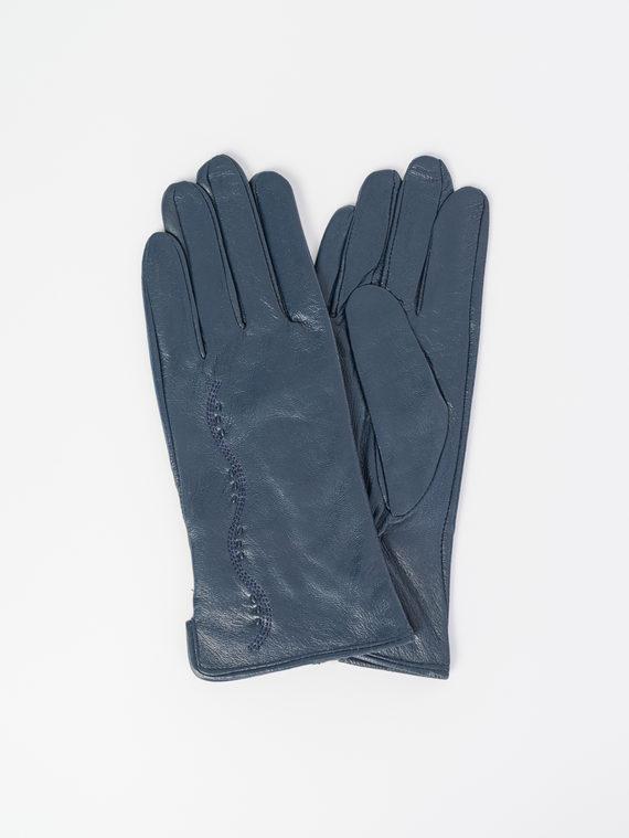 Перчатки кожа , цвет темно-синий, арт. 26107957  - цена 840 руб.  - магазин TOTOGROUP