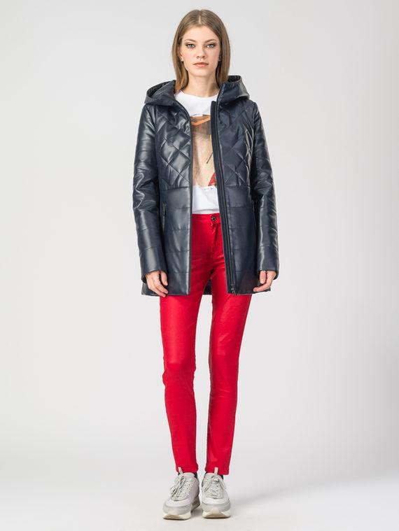 Кожаная куртка эко-кожа 100% П/А, цвет темно-синий, арт. 26108087  - цена 6990 руб.  - магазин TOTOGROUP