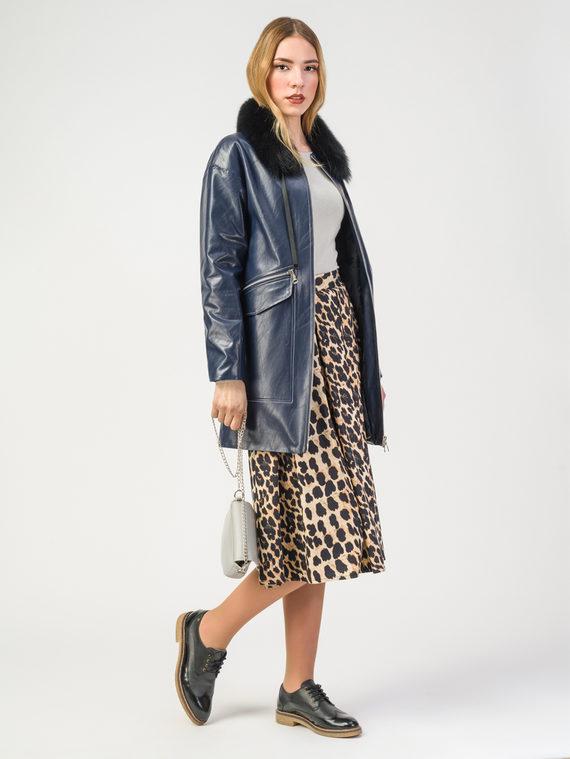 Кожаная куртка эко-кожа корова, цвет темно-синий, арт. 26108152  - цена 4990 руб.  - магазин TOTOGROUP