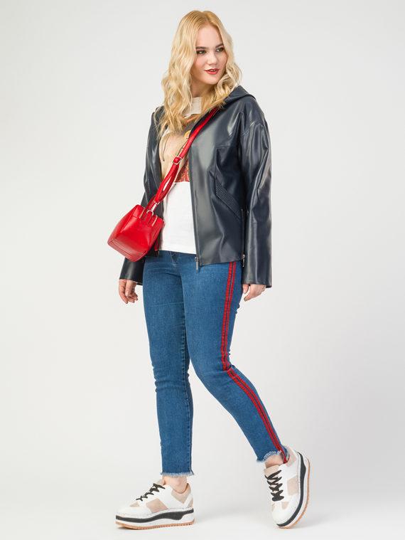 Кожаная куртка эко-кожа 100% П/А, цвет темно-синий, арт. 26108160  - цена 6990 руб.  - магазин TOTOGROUP