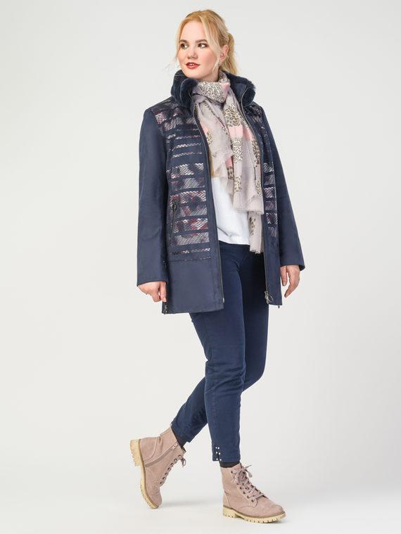 Кожаная куртка эко-замша 100% П/А, цвет темно-синий, арт. 26108179  - цена 9990 руб.  - магазин TOTOGROUP