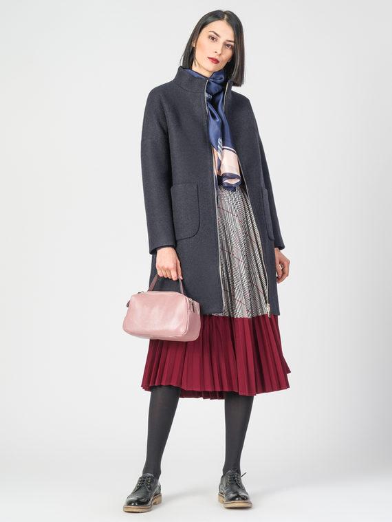 Текстильное пальто 30%шерсть, 70% п.э, цвет темно-синий, арт. 26108187  - цена 5590 руб.  - магазин TOTOGROUP