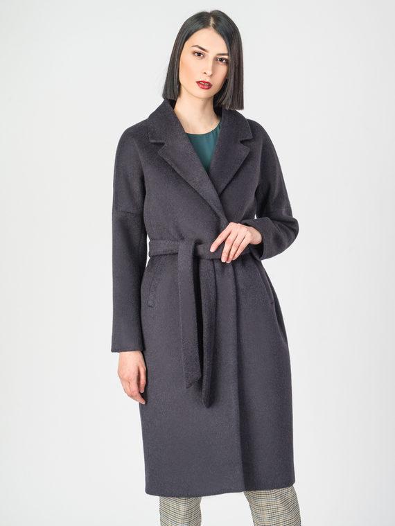 Текстильное пальто 30%шерсть, 70% п.э, цвет темно-синий, арт. 26108189  - цена 6290 руб.  - магазин TOTOGROUP