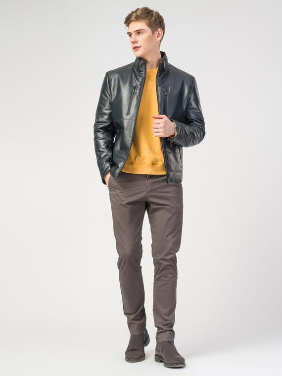 Кожаная куртка кожа , цвет темно-синий, арт. 26108237  - цена 11290 руб.  - магазин TOTOGROUP