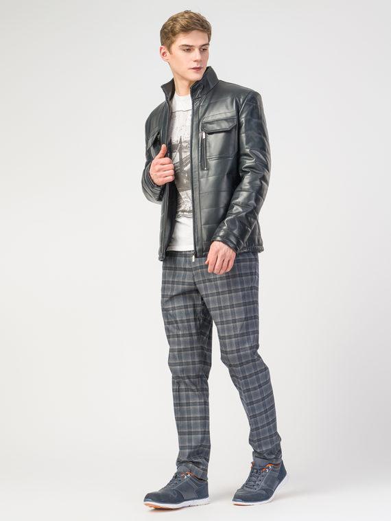 Кожаная куртка кожа , цвет темно-синий, арт. 26108239  - цена 11290 руб.  - магазин TOTOGROUP