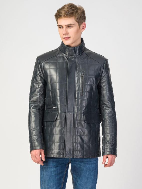 Кожаная куртка кожа , цвет темно-синий, арт. 26108240  - цена 13390 руб.  - магазин TOTOGROUP
