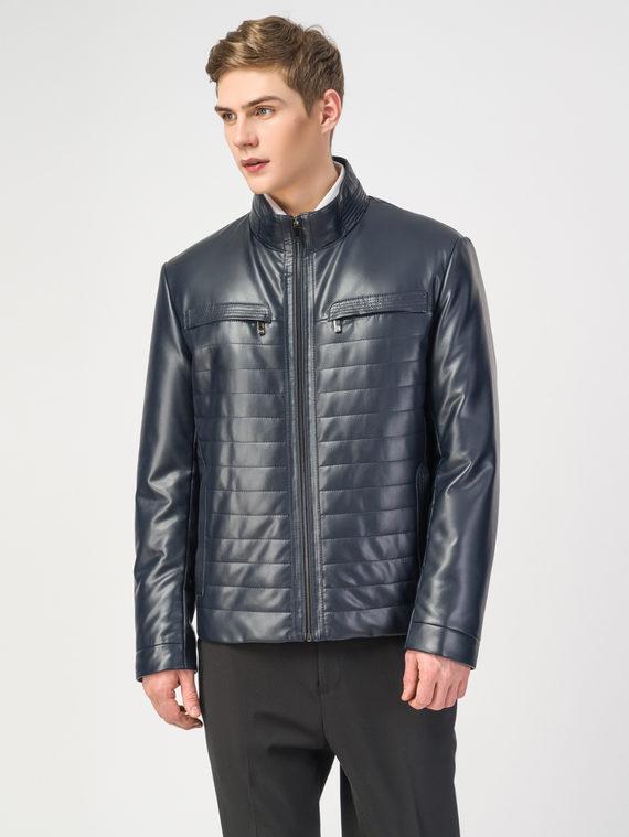 Кожаная куртка эко-кожа 100% П/А, цвет темно-синий, арт. 26108242  - цена 6290 руб.  - магазин TOTOGROUP