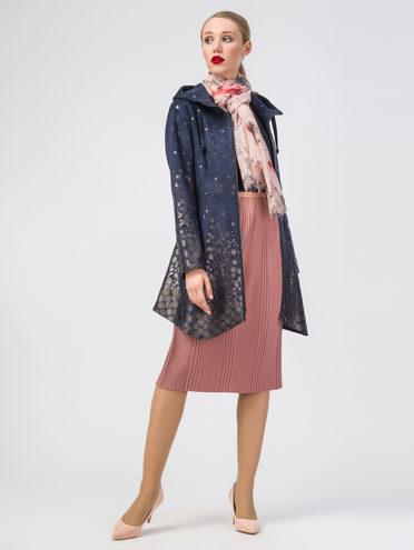 Кожаное пальто эко-замша 100% П/А, цвет темно-синий, арт. 26108273  - цена 5890 руб.  - магазин TOTOGROUP
