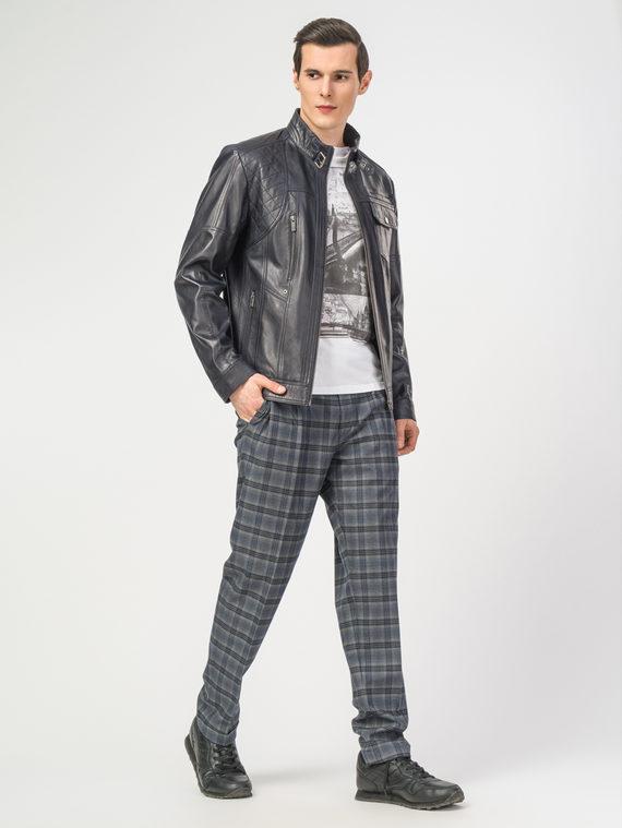 Кожаная куртка кожа , цвет темно-синий, арт. 26108283  - цена 11290 руб.  - магазин TOTOGROUP
