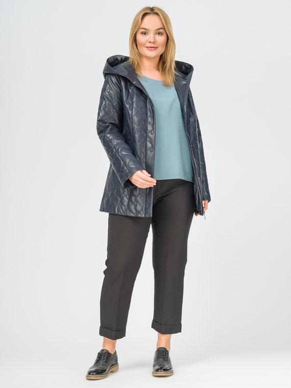 Кожаная куртка эко-кожа 100% П/А, цвет темно-синий, арт. 26108300  - цена 5590 руб.  - магазин TOTOGROUP