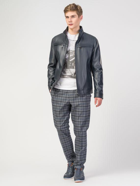 Кожаная куртка кожа , цвет темно-синий, арт. 26108309  - цена 13390 руб.  - магазин TOTOGROUP