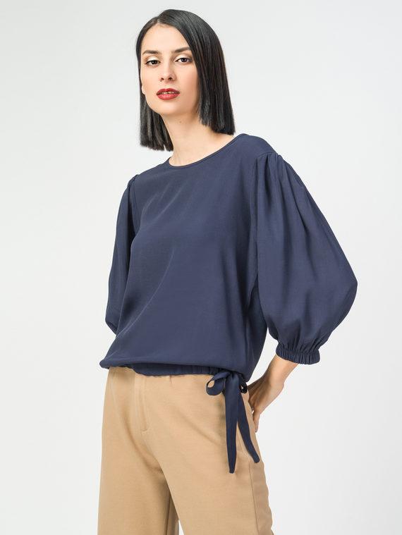 Блуза 100% вискоза, цвет темно-синий, арт. 26108321  - цена 2840 руб.  - магазин TOTOGROUP