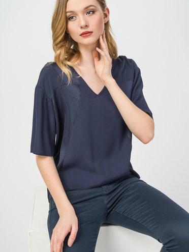 Блуза 100% вискоза, цвет темно-синий, арт. 26108323  - цена 1660 руб.  - магазин TOTOGROUP
