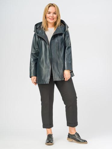 Кожаная куртка кожа , цвет темно-синий, арт. 26108461  - цена 11290 руб.  - магазин TOTOGROUP