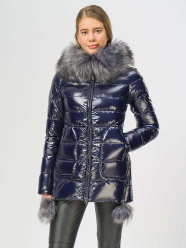 Пуховик 100% полиэстер, цвет темно-синий, арт. 26108566  - цена 5890 руб.  - магазин TOTOGROUP
