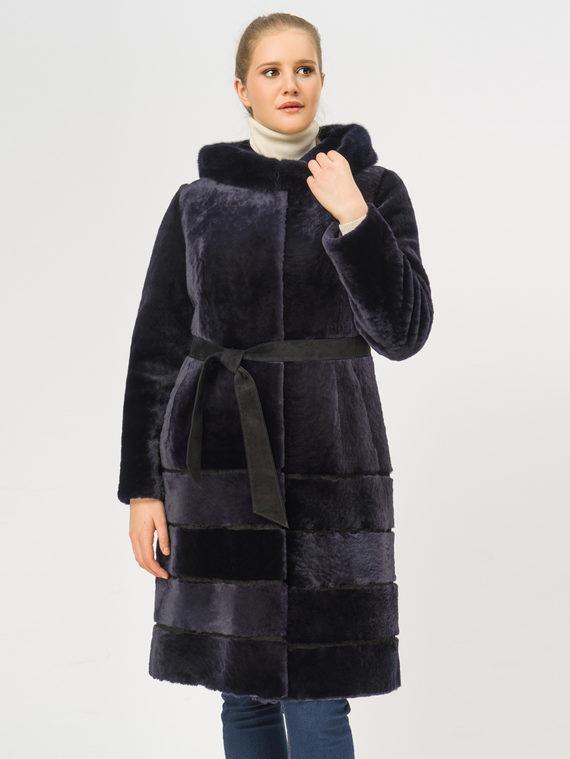 Шуба из мутона мех мутон, цвет темно-синий, арт. 26108664  - цена 25590 руб.  - магазин TOTOGROUP